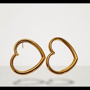 Retro Love Gold Heart Studs💛✨✨